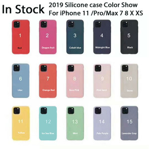 원래 공식 액체 실리콘 젤 충격 방지 전화 커버 케이스 아이폰 (12) 프로 맥스 (11) XS XR X 8 7 6 6S 플러스와 소매 상자