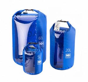 Atacado-Naturehike New 1pcs para 60L UltraLight saco Visual seco Waterproof Bag seco saco NH15S005-D60L EXew #