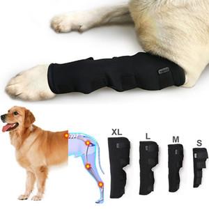 2PCS / LOT الحيوانات الأليفة الركبة وسادات الكلب تستجمع قواها لدعم الساق هوك المشتركة التفاف تنفس إصابة استرداد الساقين الكلب حامي دعم