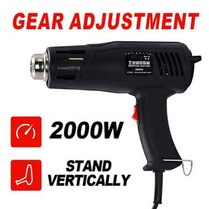 Electric Industrial Hot Air Gun EU US Plug 2000W Power Heat Gun With Supporting Seat DIY Shaping Tool Plastic Hand Held Heat
