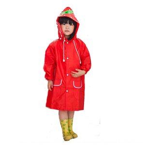 lAQEa HAPPYFUN animal de la historieta estilo reflexivo de engranajes tira de lluvia gearcoat ropa de lluvia del poncho de los niños de espesor con banda reflectante