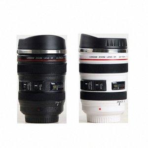 시뮬레이션 렌즈 컵 창조적 인 Caniam 카메라 렌즈 커피 컵 400ml의 스테인레스 스틸 머그잔 여행 카메라 에오스는 24 105mm 모델은 컵 윗 6c76 # 음주
