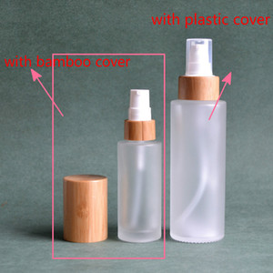 Storage Bottles & Jars 1oz 30ml 50ml 100ML 120ML Frosted Clear Pumps Tops 4oz Bamboo Lotion Bottle Frost Glass Mist Spray For Oil
