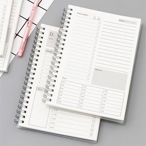 2020 2021 Spiral A5 Notebook Planificateur Quotidien Hebdomadaire Mensuel Papier Kraft Organisateur Agenda scolaire Bureau Horaire Cadeaux Papeterie