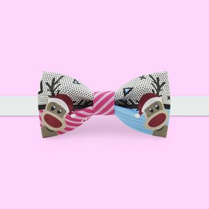New Free Shipping casual Men's male Handmade Fashion British Fan Christmas Party unique Dress printed Christmas Casual Bow TIE