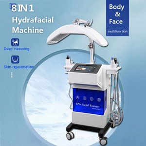 8 IN 1 Hydrafacial Makinesi Aqua Clean Mikrodermabrazyon Profesyonel Oksijen Yüz Makine Kristal Elmas Su Peeling