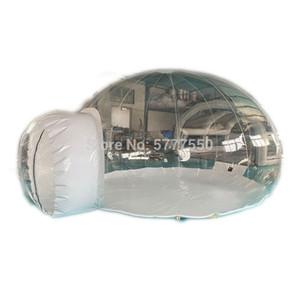 Comercial inflável transparente bolha Camping Tent Personalizado 16 pés de diâmetro exterior inflável Limpar Tenda Bolha para Camping