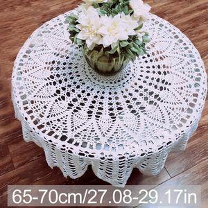 Crochet algodão Toalha de Mesa Multifuncional Sala de jantar Home Decor Por Rodada Wedding