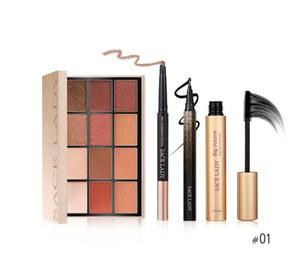 set de maquillage pour les yeux Waterproof Mascara Eyeliner crayon à sourcils 12 couleurs de fard à paupières Pallete Cosmetics Kit