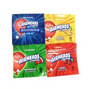 Airheads Xtremes şeker Çanta 400 mg Airheads yenilebilir ambalaj koku almayan torba savaş başlığı kukalar boş şeker mylar torba yenilebilir