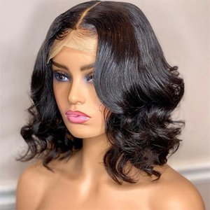 Bob Wig Lace Front Human Hair Wigs Straight Closure Frontal Wigs 4x4 13x4 Middle Part Short Brazilian Wig For Women Ms Love