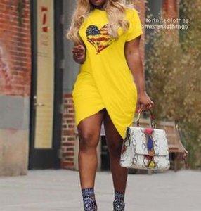 Candy Color Dresses Plus Size 5XL Casual Women Summer LOVE Dress Cross Designer Short Sleeved