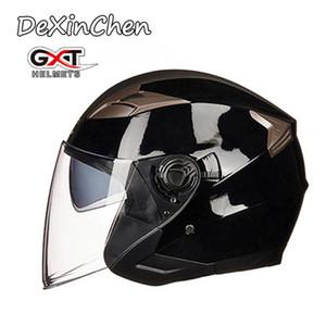 NEW Подлинная GXT Half Open Face Helmet Four Seasons Двойной козырек мотоциклетный шлем Casco мотоцикл Capacete езда Мото