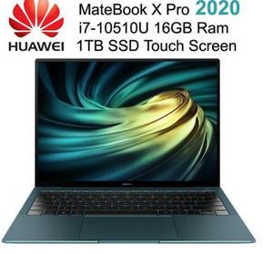 Original HUAWEI MateBook X Pro 2020 13.9 inch i7-10510U 4.9GHz 16GB Ram 1TB SSD 3K Touch Screen Share 6.0 Borderless Fingerprint Laptops