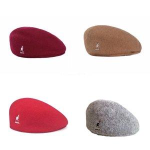 2020 Vintage Kangol Men Beret Womwn sombrero del remiendo del algodón flatcap hombres retros informal Ivy sombrero del verano de invierno Golf Newsboy Cap de conducción C # 741