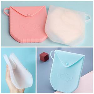 2020 Nouveau masque en plastique Conteneur silicone Boîte multifonctions Masques visage cas pratique petit Voyage Carry 13 09dx D2