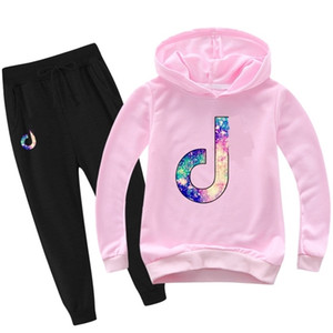2-16Y Lovely Note Clothing Children Clothes Toddler Boys Clothes Sets Teenagers Girls Hoodies Pants 2pcs Sets Sport Suits 5142 0927