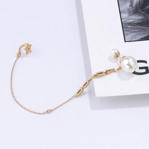 2020cd буквы жемчужные серьги ухо клип все в одном супер фея серьги личности мода wu jinyan ван ziwen такой же стиль