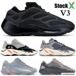 700 New V3 Alvah Black Azael Mens Running Shoes Kanye West 700 Wave Runner Vanta Inertia Men Designer Shoes Women Sneakers