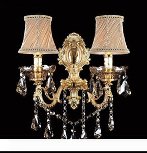 Fashion crystal wall lamp Sconce candle wall lamp stair bedroom bedside lamp mirror light