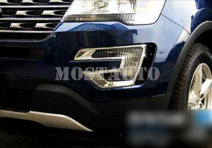 For Ford Explorer 2016-2017 Accessories Front Fog Light Cover Foglight Lamp Frame 2pcs