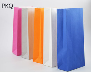 50pcs,Stand up Colorful Bags,White Kraft Paper Bag,Party Wedding Favors Handmade Bread Gift Bags,Packaging Wrapping Supplies
