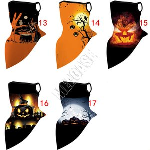 Fashion Halloween Masks Halloween Variety Magic Turban Triangle Bike Mask Towel Riding Mask Scarf Party Masks Pumpkin print SALE D81806