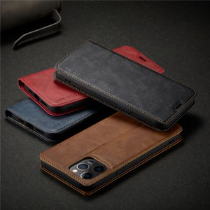 Magnet Phone Case For iPhone 12 11 XS XR 7 8 Soft TPU PU Leather Case Luxury Back Cover with Credit Card Slots