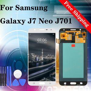 A estrenar para Samsung Galaxy Neo J7 J701 J701F J701M pantalla LCD de pantalla táctil digitalizador Asamblea con los regalos de cine templado