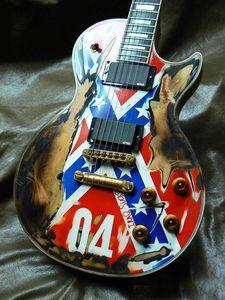 Chitarra elettrica, reliquia Aged Zakk Wylde Rebel Flag gutiar
