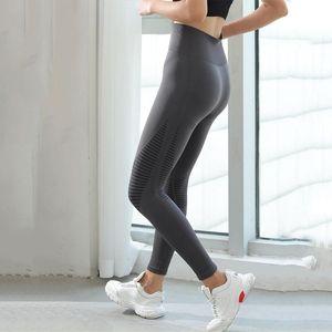 qualityHigh cintura Yoga Pants Push Up fitness exercício Hip elevação Trainning Wear cintura alta Legging sem emenda Energia gymwear