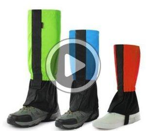 1 accoppiamento / lotto di sicurezza Sport Leg Pads Bra Protector manica lunga gamba Gear Pad all'aperto Shank Scaldapiedi Sul Campo di neve per bambini adulti