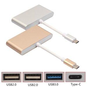 4 В 1-концентратор адаптер USBC Тип -C USB-концентратор 3 0,1 до 4 -PORT USB3 .0 USB2 .0 Тип -C адаптер 5g Для Macbook и других цифровых устройств