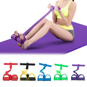 Indoor Fitness Resistance Bands Exercise Equipment Elastic Up Pull Rope Gym Workout Bands Sport 4 Tube Pedal Ankle Puller