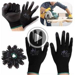 Новый 12 Пар нитрил покрытия Рабочих перчаток нейлоновой безопасность труд Фабрика сад Ремонт Protectore перчатка Мода HotNylon