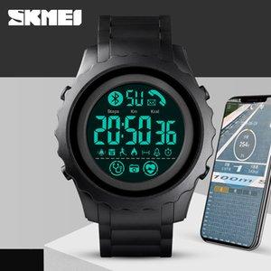 Moniter APP Bluetooth Saatler İçin Android IOS hatırlatın Sleeping Mens Akıllı İzle Lüks Dijital Smartwatch Erkekler Top Marka SKMEI