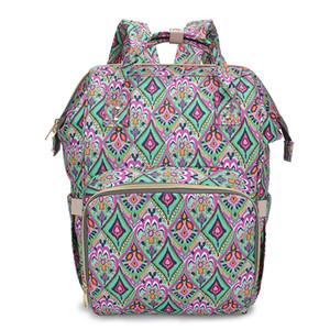 2020 Printed Mummy Bags Double Shoulder Bag Multi-functional Large Capacity Handbag Casual Diaper Bottle Baby Backpack