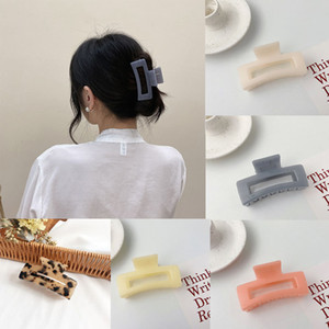 Frau Elegante Haarklaue Rechteckige Haarnadeln Krabben Haarschmuck Frauen Haarspange Mädchen Barrettes Haarspangen Headwear
