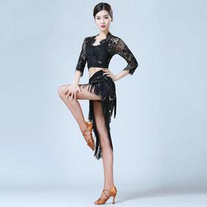 Fan Shu Latin dance costume tassel apron triangle scarf short skirt new dance suit 2020 autumn new female adult