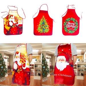 Tablier de Noël adulte Père Noël d'arbre de Noël Tablier Elk 80 * 60 cm Cuisine cuisson restaurant Dîner de Noël Décoration w-00279