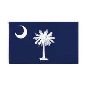 South Carolina Flag FREE Shipping Direct factory wholesale 3x5Fts 90x150cm Palmetto USA state Banner Mixed order For Hanging Decoration