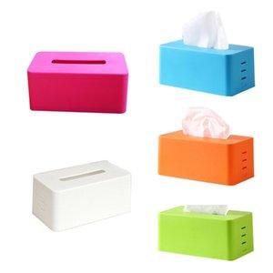 rechteckige Kunststoffgewebe Serviette Box Toilettenpapierspender Fall Halter nach Hause Bürodekoration (blau) 21.5 * 9.3 * 12cm