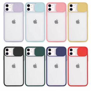 Custodia in TPU per cellulare Matte Chiaro per iPhone 12 11 Pro X XS MAX 7 8 PLUS con proteggi per porta scorrevole della fotocamera