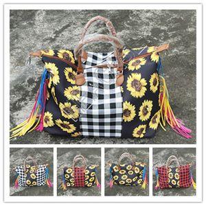 Новые поступления женщины мода подсолнечника сетка печати путешествия кисточки сумки водонепроницаемые хранения покупки сумка экологически чистые продукты большие сумки D81904