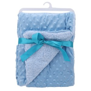 Baby Blanket & Swaddling Newborn Thermal Soft Fleece Blanket Solid Bedding Set Cotton Quilt High Quality 2020 Newest