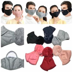 Außenreit Maske Earmuffs Winter Baumwolle Staub Unisex-Maske Frauen-Mann-Winter Ohrenwärmer Verpackungs-Band-Ohr-Wärmer Earlap Schutz FFA4455 Maske