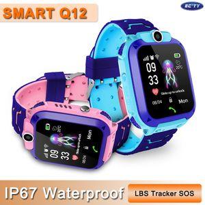 Q12 Kids Smart Watch Children Wrist Watch IP67 Waterproof With LBS Tracker SOS Camera SIM Call For Android PK DZ09 GT08 Q528 Smartwatch