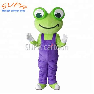 Green classic cartoon adult customized frog mascot costume Fancy Dress Animal costume for party decoration