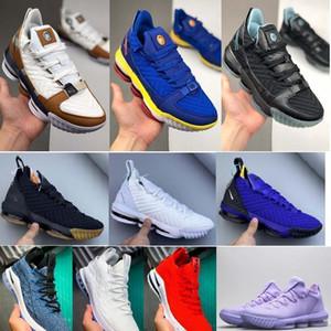 Nike Nuevo lebron 16 Zapatos Watch The Throne baloncesto de los hombres Negro Oro metálico de Rose-Frost James 16 KC Oro para hombre Lacelocks deporte atlético oaGr #