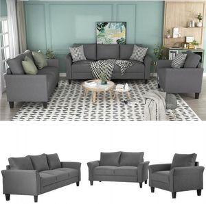 Классический Высокое качество Взрослые Relaxable U_STYLE Полиэстер смесь 3 шт Sofa Set, Гостиная наборы диван-кровати WY000036EAA